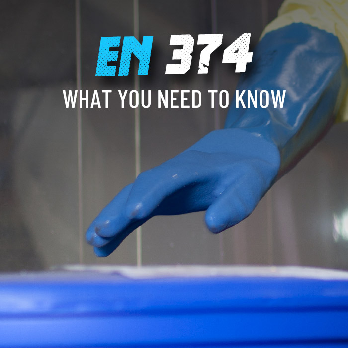 What are EN 374 work gloves?