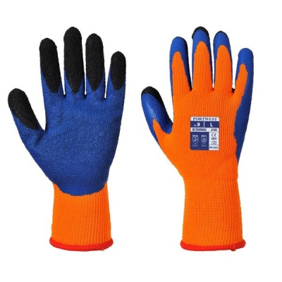 Portwest A185 Thermal Latex Orange and Blue Gloves