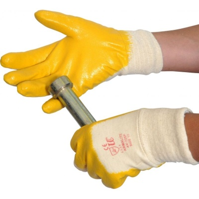 Armalite Yellow Nitrile Coated Handling Gloves AV725P