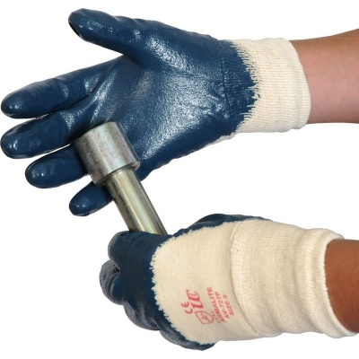 Armalite Blue Nitrile Coated Handling Gloves AV727P