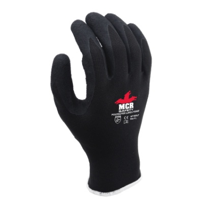 MCR Safety General Purpose GP1002LF Latex Foam Palm-Coated Work Gloves