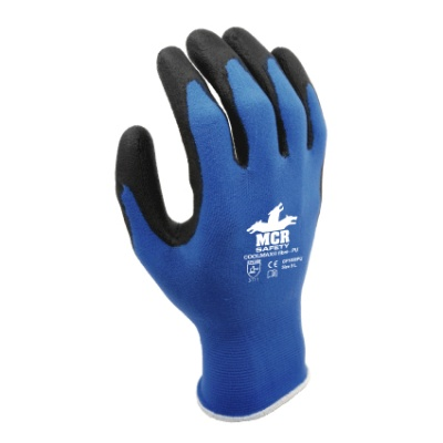MCR Safety Coolmax GP1006PU PU Palm-Coated Work Gloves