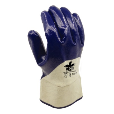 MCR Safety GP1050NT Cotton Jersey 3/4 Nitrile-Coated Work Gloves