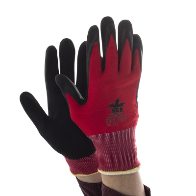 MCR Safety GP1005NA Nitrile Air Palm-Coated Work Gloves