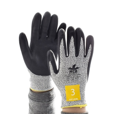 MCR Safety Cut Pro CT1007NF Nitrile Foam Palm Coated Work Gloves