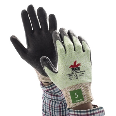MCR Safety Diamond Dyneema CT1018PU PU-Coated Work Gloves