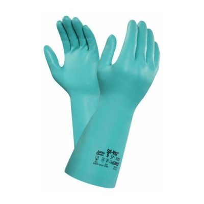 Ansell AlphaTec Solvex 37-695 Nitrile Chemical Resistant Extra Long Gauntlets