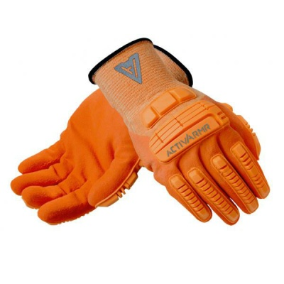 Ansell ActivArmr 97-120 Hi-Vis Kevlar Rugged Work Gloves