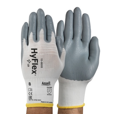 Ansell HyFlex 11-800 Palm-Coated Nitrile Foam General Use Gloves