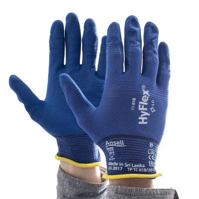 Ansell HyFlex 11-818 Abrasion-Resistant Grip Gloves