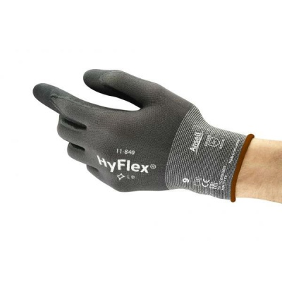 Ansell HyFlex 11-840 Abrasion-Resistant Nitrile Palm-Coated Gloves