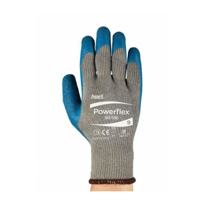 Ansell Powerflex 80-100 Heavy-Duty Handling Work Gloves