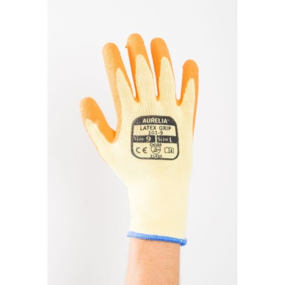 Aurelia Latex Orange Wet Grip Gloves 101