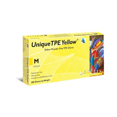 Aurelia Unique TPE Powder-Free Yellow Gloves 45226-9