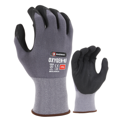 Blackrock BRG101 Oxygen Water-Resistant Nitrile Foam Coated Gloves
