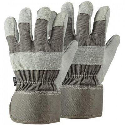 Briers Grey Rigger Gardening Gloves Twin Pack B4310