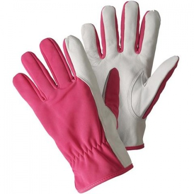 Briers Magenta Super Soft and Strong Leather Gardening Gloves B6979