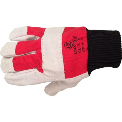 Premium Leather USCCFKL-2 Rigger Handling Gloves with Red Drill Backing