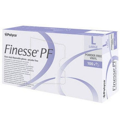 Polyco Finesse Powder-Free Clear Vinyl Disposable Gloves MPF25