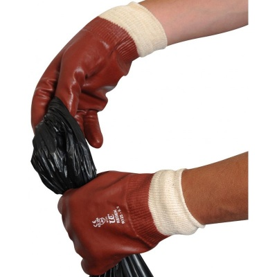 Heavy-Duty Knit Wrist PVC R125 Gloves