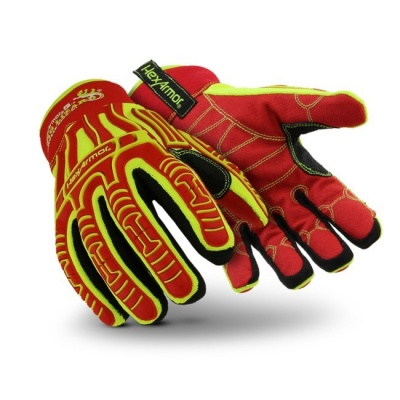 HexArmor 2023 Rig Lizard Arctic Hi-Vis Mechanics Style Thermal Gloves