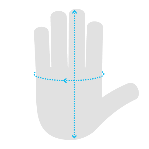 Indications Where to Measure Your Hand
