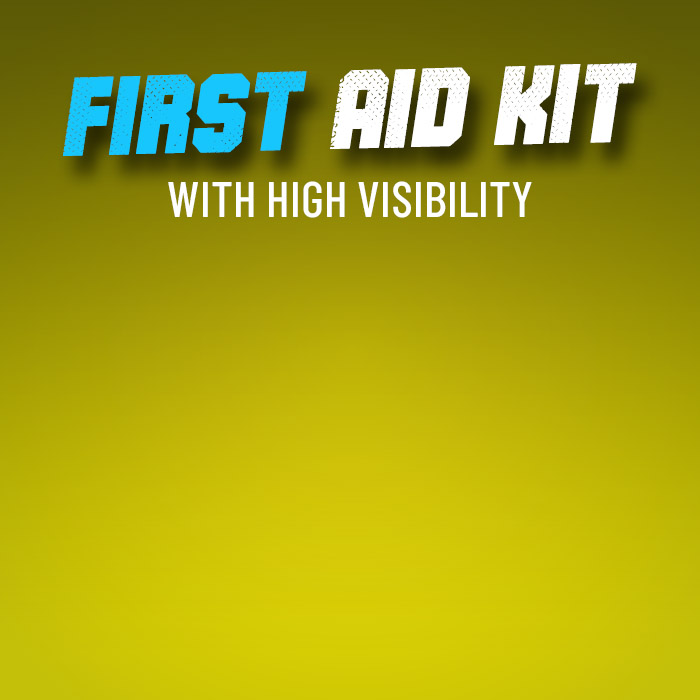 Hi Vis First Aid Kit