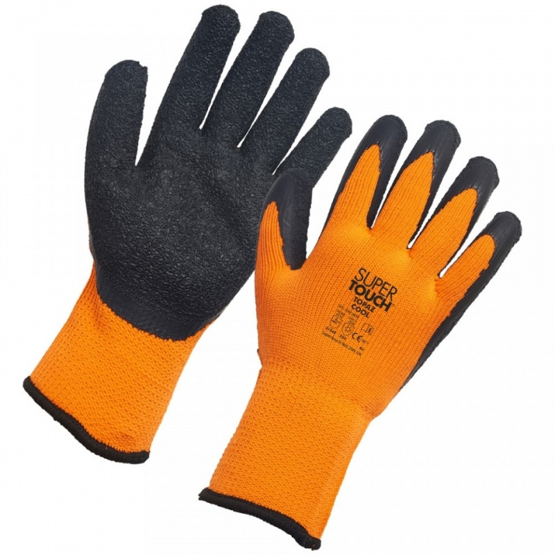 Supertouch Topaz Cool Orange-and-Black Thermal Work Gloves