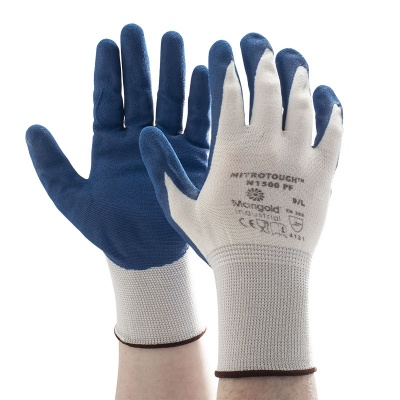 Marigold Industrial Nitrotough N1500 PF Nitrile Coated Gloves
