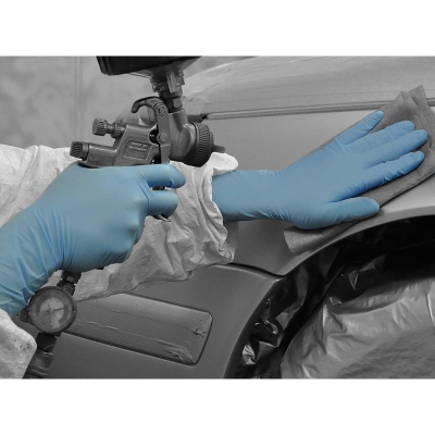 Polyco Bodyguards GL891 Blue Disposable Nitrile Gloves with Long Cuff