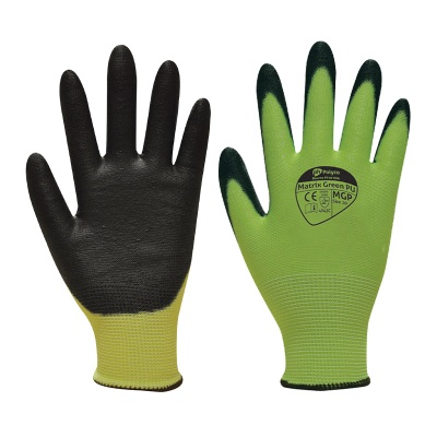 Polyco Matrix Green PU Cut Resistant Gloves MGP