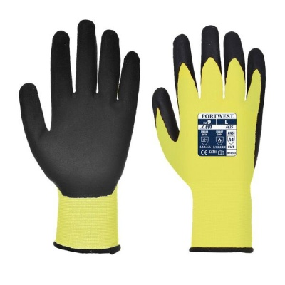 Portwest Hi-Vis Cut-Resistant Yellow and Black Gloves A625Y8