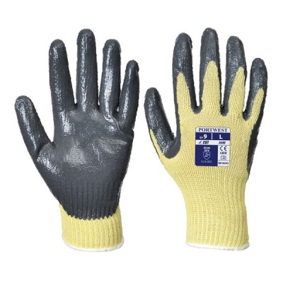 Portwest Cut-Resistant Nitrile Palm-Coated Gloves A600