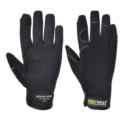 Portwest Black General Utility Black Gloves A700BK