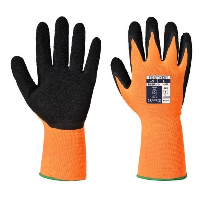 Portwest Hi-Vis Orange and Black Grip Gloves A340OR