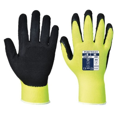 Portwest Hi-Vis Yellow Grip Gloves A340YE