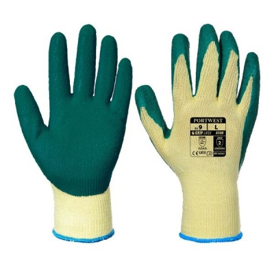 Portwest Green Latex Grip Gloves A100GN