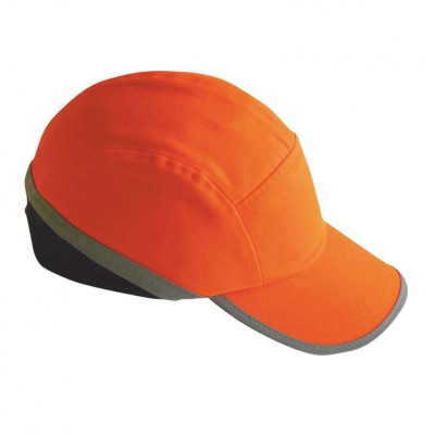 Portwest Hi-Vis Semi-Vented Long-Peak Bump Cap PW79