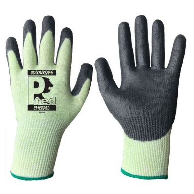PredEmerald Cut Resistant Polyurethane Coated Gloves PUUH-13