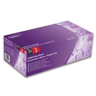 SafeDon GX894 Blue Powder-Free Nitrile Examination Gloves