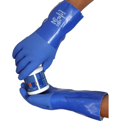 Soft Triple-Dipped Chemical-Resistant 12'' PVC R530 Gauntlets
