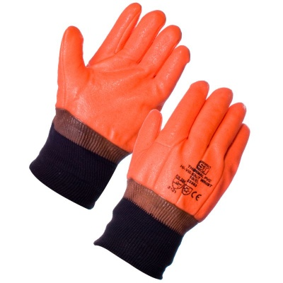 Supertouch 23353 Thermal PVC Hi-Viz Knit Wrist Gloves