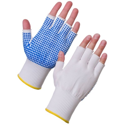 Supertouch 3012 Fingerless Assembly Gloves with PVC Dotted Palm