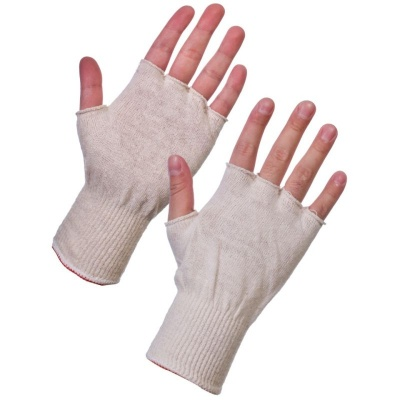Supertouch Polycotton Stockinet Fingerless Glove Liners 252W4