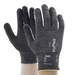 Ansell HyFlex 11-531 Cut-Resistant Grip Palm-Coated Work Gloves