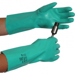 Heavy Grip Chemical Resistant Nitrile Gauntlets A930