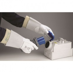 Polyco Electricians' Leather Protector Gauntlet For Electricians Gloves RE-PRO