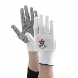 MCR Safety Cotton PVC Dotted Light Handling Gloves GP1004PV