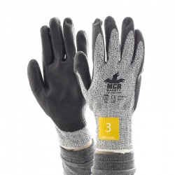 MCR Safety Cut Pro CT1007PU PU Palm-Coated Work Gloves