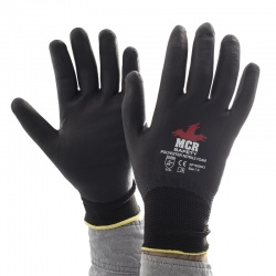MCR Safety General Purpose GP1002NF Nitrile Foam Fully-Coated Work Gloves